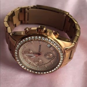 Fossil ES3352 watch rose gold 38mm